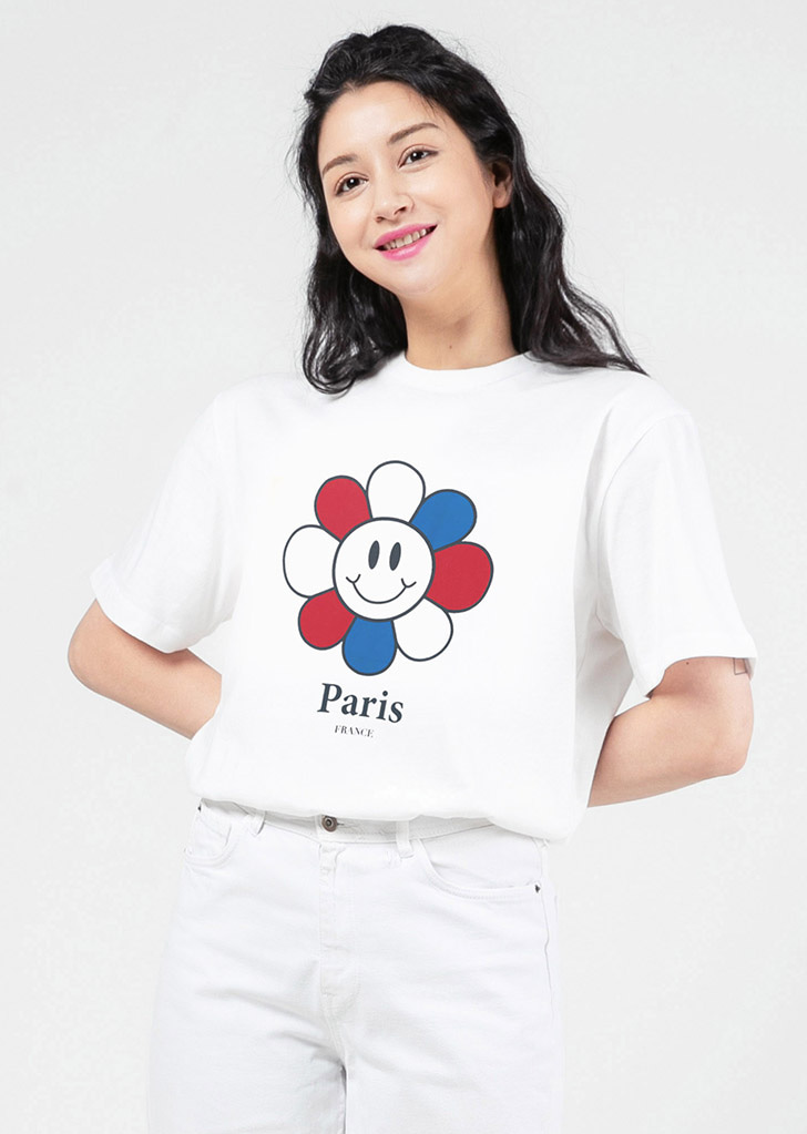 PARIS BIG SMILE FLOWER(WHITE)