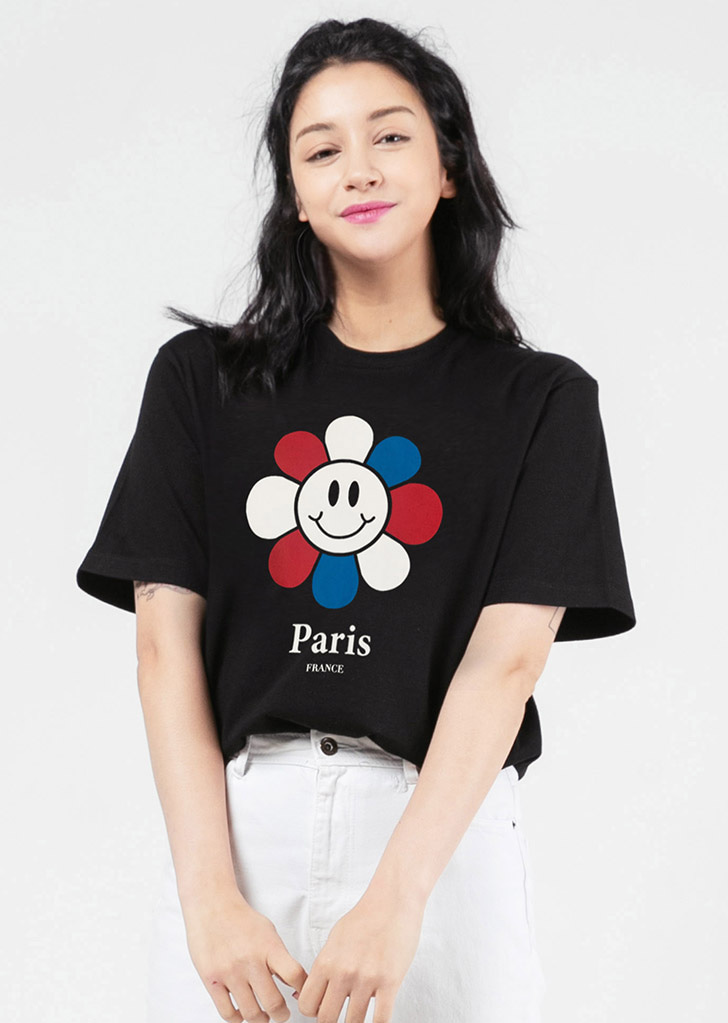 PARIS  BIG SMILE FLOWER(BLACK)